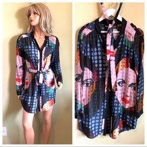 DESIGUAL Statement Colorful Shirt Dress